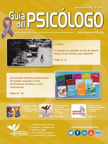 Guía Del Psicólogo Mes De Noviembre 2019 By Colegio Oficial