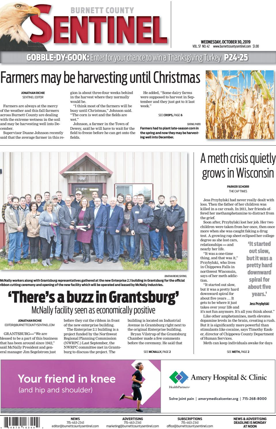 Burnett County Sentinel October 30 2019 By Burnett County Sentinel Issuu