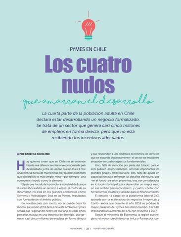 Page 24 of Pymes en Chile: Los cuatro nudos que amarran el desarrollo.