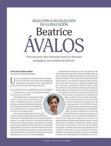 Page 40 of Entrevista a Beatrice Ávalo, Integrante de la dirección del Centro de Investigación Avanzada en Educación de la Universidad de Chile