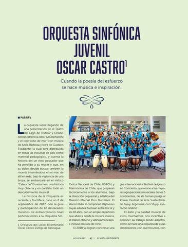 Page 44 of Orquesta Juvenil Oscar Castro de la Orquesta Sinfónica Juvenil: Cuando la poesía del esfuerzo se hace música e inspiración.