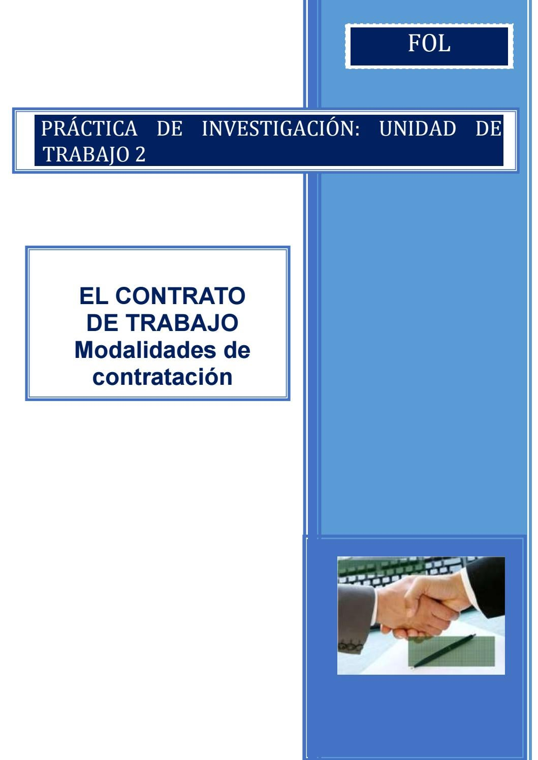 Práctica De Investigación Modalidades De Contrato De Trabajo By Folcovadonga Issuu
