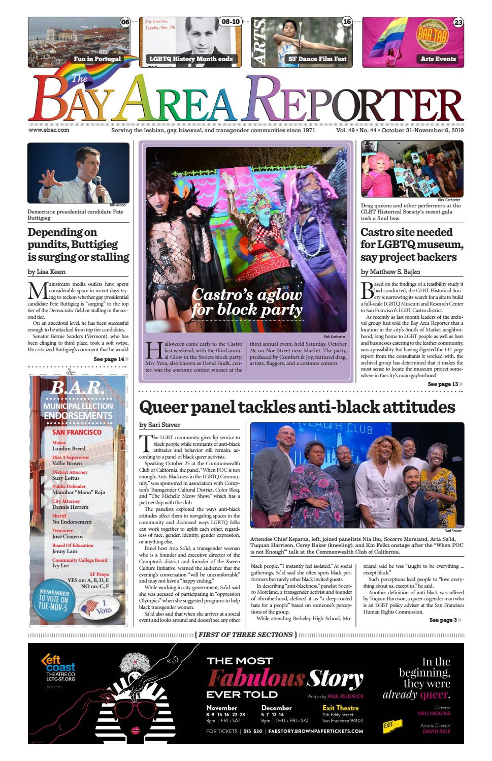 Trans Halloween Party Oct 31 2020 Los Angeles October 31, 2019 Edition of the Bay Area Reporter by Bay Area
