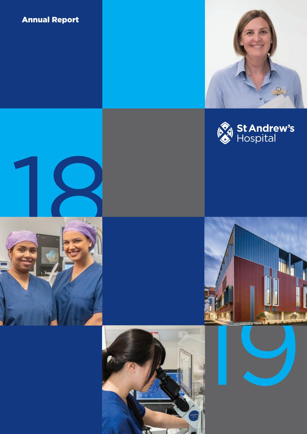 St Andrew S Hospital Annual Report 2018 19 By St Andrews Hospital Issuu