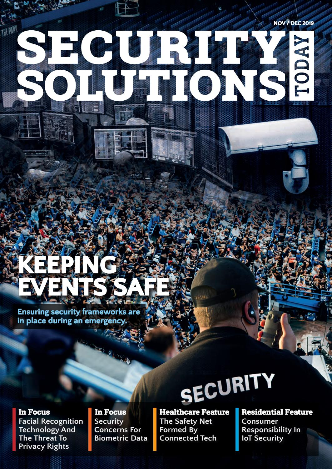 Security Solutions Today: Nov-Dec 2019 by Security Solutions