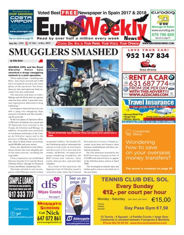 Euro Weekly News Costa Del Sol 31 October 6 November 2019 Issue 1791 By Euro Weekly News Media S A Issuu