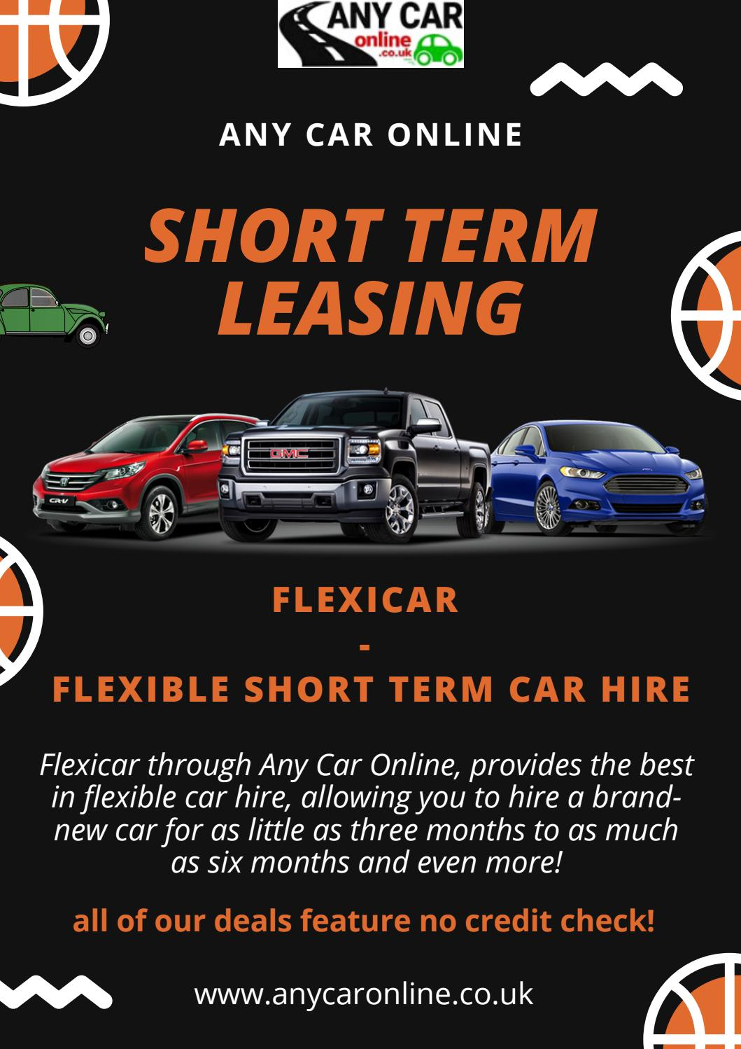 Short Term Car Lease >> Short Term Car Leasing Services With No Credit Check By Any
