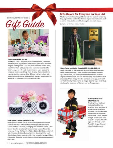 Page 14 of Birmingham Parent's Gift Guide