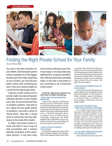 Page 20 of Finding the Right Private School for Your Family