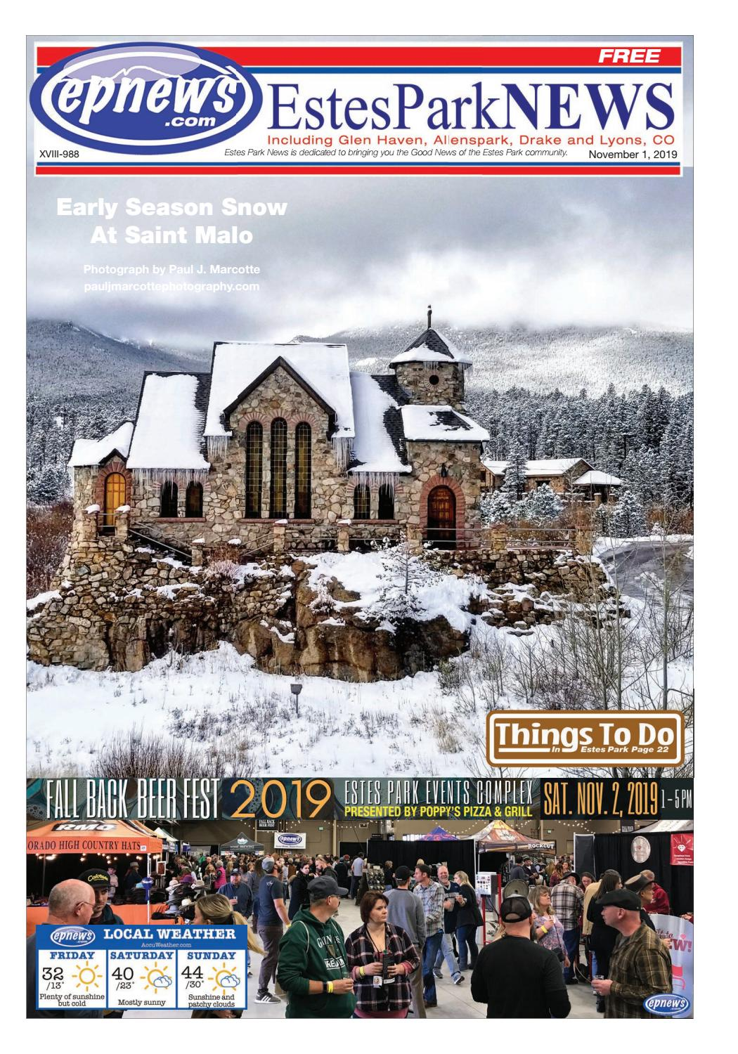 Estes Park News November 1 2019 By Estes Park News Inc Issuu