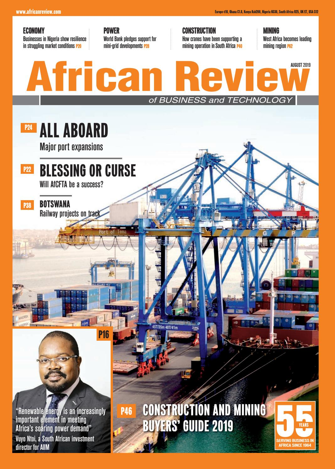 African Review August 2019 by Alain Charles Publishing issuu