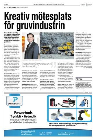 Page 12 of Kreativ mötesplats för gruvindustrin