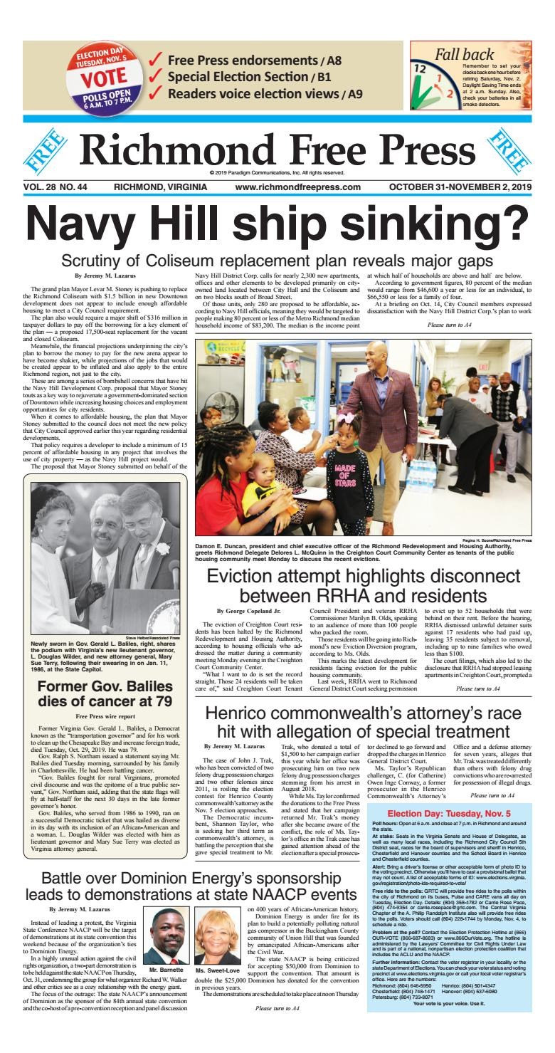 Richmond Free Press October 31 November 2 2019 Edition by