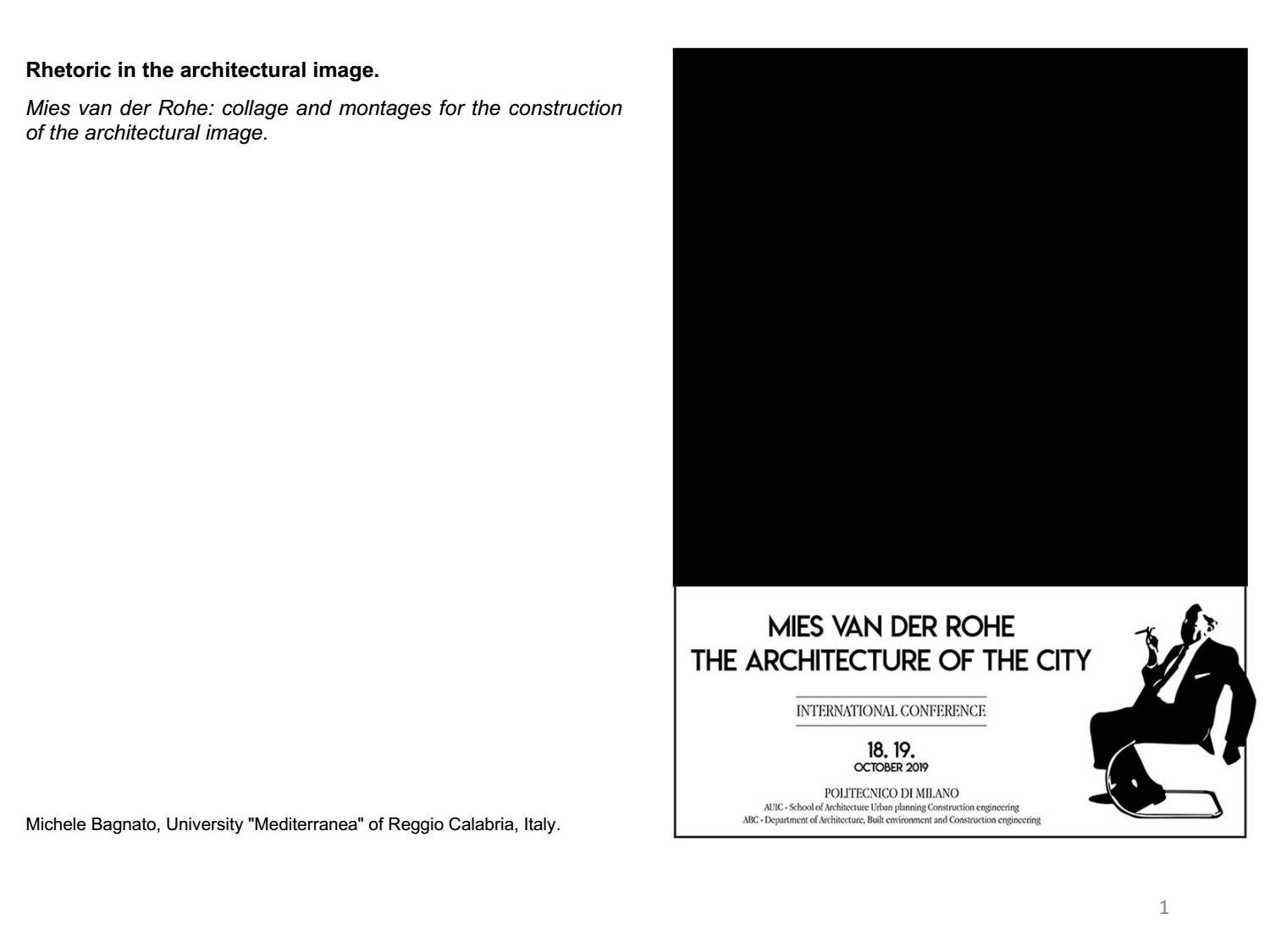 Mies Van Der Rohe Design Philosophy.Mies Van Der Rohe Collage And Montages For The Construction Of