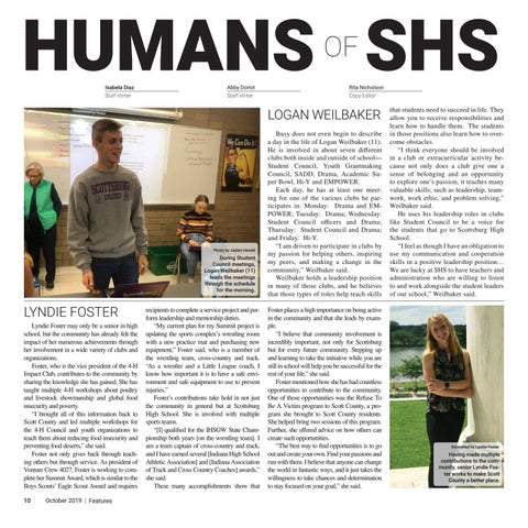 Page 10 of Humans of SHS