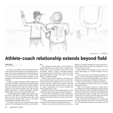 Page 14 of Athlete-coach relationship extends beyond field