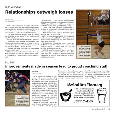 Page 15 of Improvements made in season lead to proud coaching staff