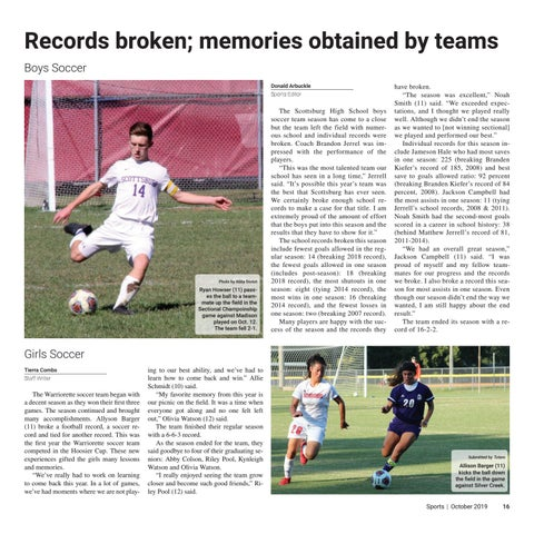 Page 16 of Records broken; memories obtained by teams