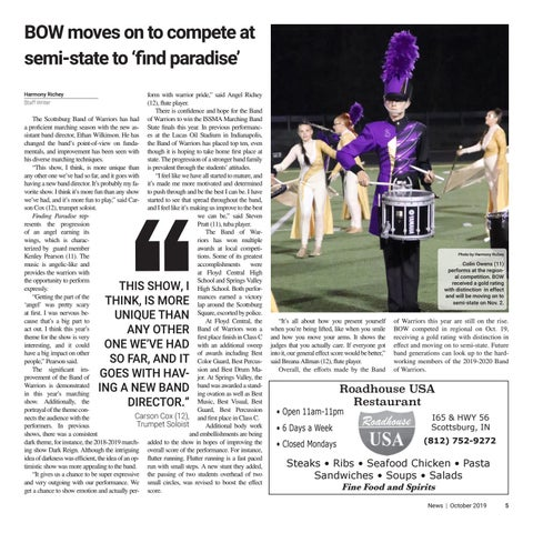 Page 5 of Bow moves on to compete at semi-state to 'find paradise'