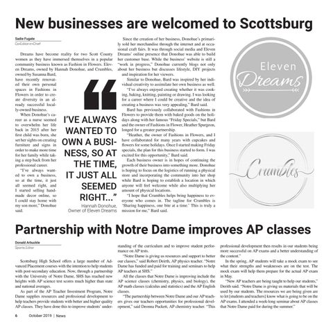 Page 6 of Partnership with Notre Dame improves AP classes