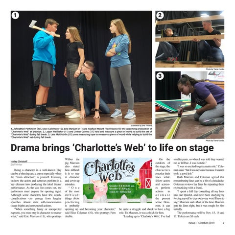 Page 7 of Drama brings 'Charlotte's Web' to life on stage