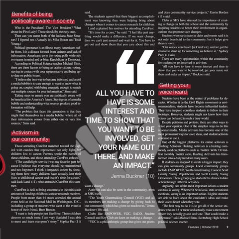 Page 9 of Teen activism encourages students to bring change to society