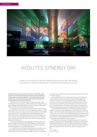 Page 24 of Avolites Synergy Day