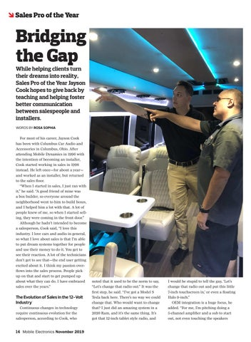 Page 14 of Sales Pro of the Year: Bridging the Gap