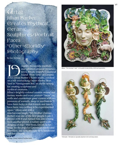 "Page 69 of Artist Jillian Barber creates mythical ceramic sculptures/portrait faces, ""other-worldly"" photography"