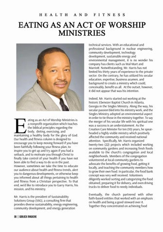Page 6 of Garry Harris -Turning Passion in to Ministry, by Ann Wooten Taylor