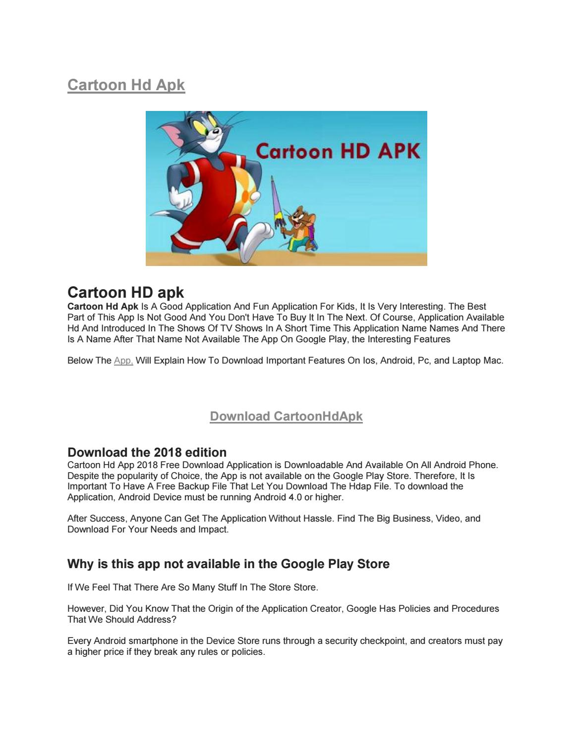 Cartoon Hd Apk By Apkpureapps14 Issuu