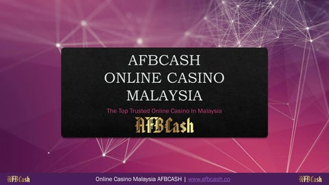 Judi Online Malaysia Yang Terkenal Terpercaya Di Asia Afbcash Afbcash28 Com By Afbcash28 Issuu