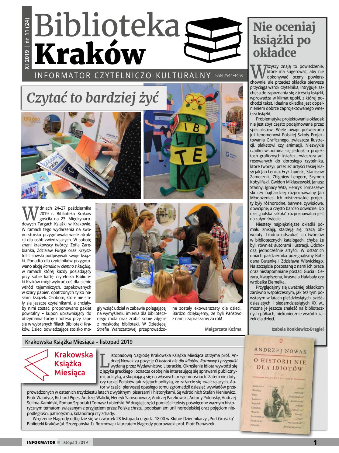 Biblioteka Kraków Informator Czytelniczo Kulturalny