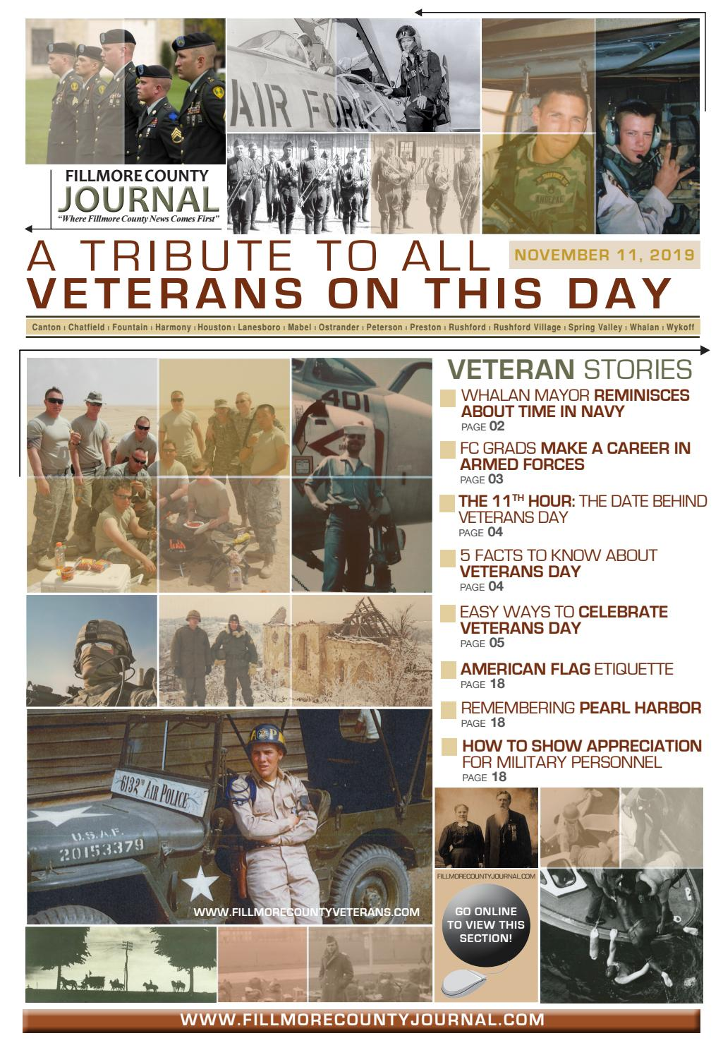 Fillmore County Journal Veterans Day Section 11419 By