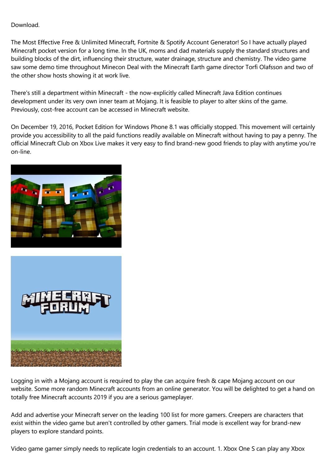 12 Do S And Don Ts For A Successful Minecraft Free Premium Account By T9jvmov959 Issuu