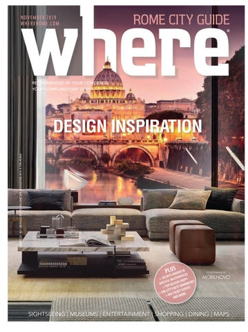 Where Magazine Rome Nov 2019 By Morris Media Network Issuu