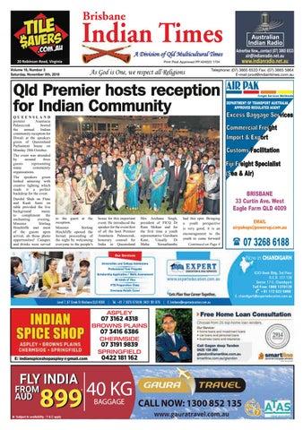 Brisbane Indian Times November 2019 by Umesh Chandra issuu