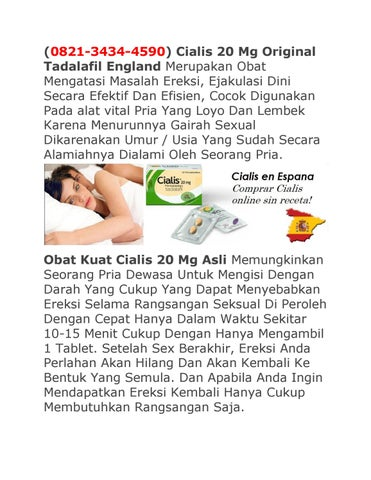Jual Cialis 20 Mg Tadalafil Asli 0821 3434 4590 By Obat Vitalitas Herbal Issuu