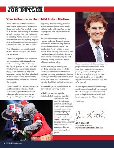 Page 4 of Your influence on that child lasts a lifetime.