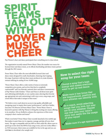 Page 9 of CHEER MUSIC GOES MOBILE!