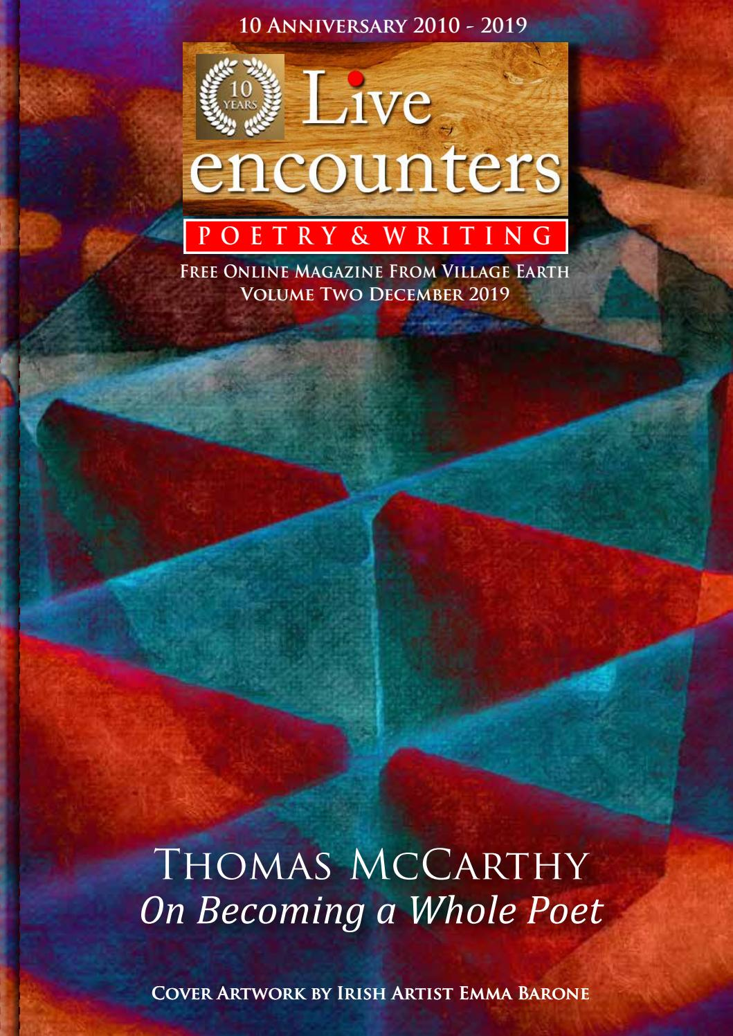 Live Encounters Poetry & Writing Volume Two December 2019 by