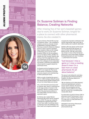 Page 24 of Dr. Suzanne Soliman is Finding Balance, Creating Networks