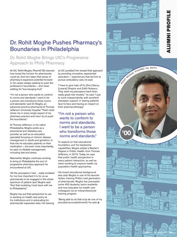 Page 25 of Dr. Rohit Moghe Pushes Pharmacy's Boundaries in Philadelphia