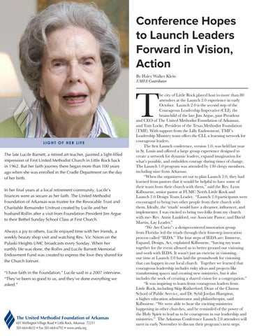 Page 2 of Conference Hopes to Launch Leaders Forward in Vision, Action