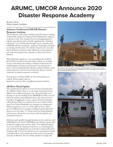 Page 42 of ARUMC, UMCOR Announce 2020 Disaster Response Academy