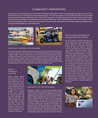 Page 3 of Hyatt Regency Sarasota : A focus on community