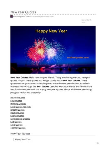 new year quotes by sruthanquotes issuu