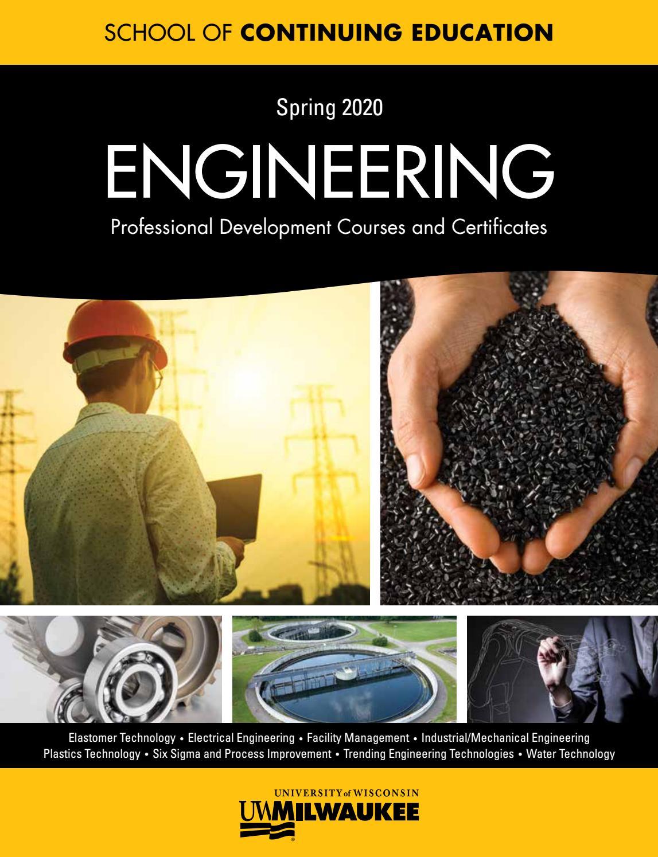 Uwm Schedule Of Classes Fall 2020.Uwm School Of Continuing Education Engineering Catalog