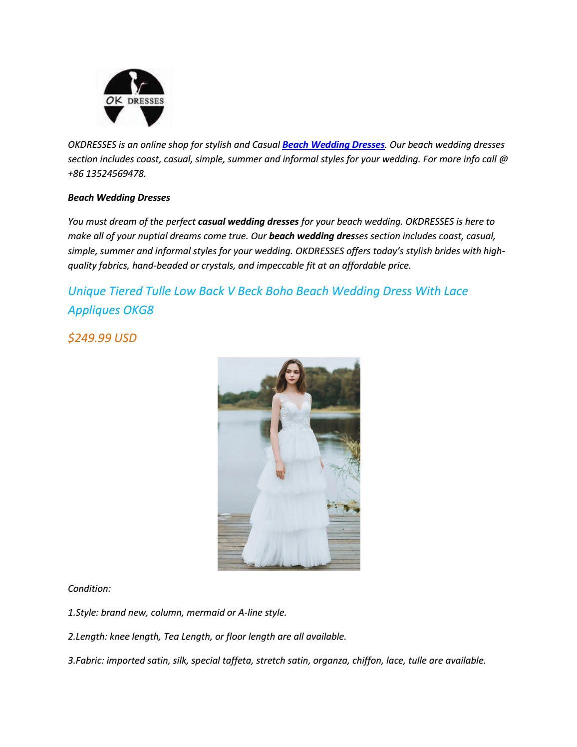 Beach Wedding Dresses By Wellsaxon Issuu