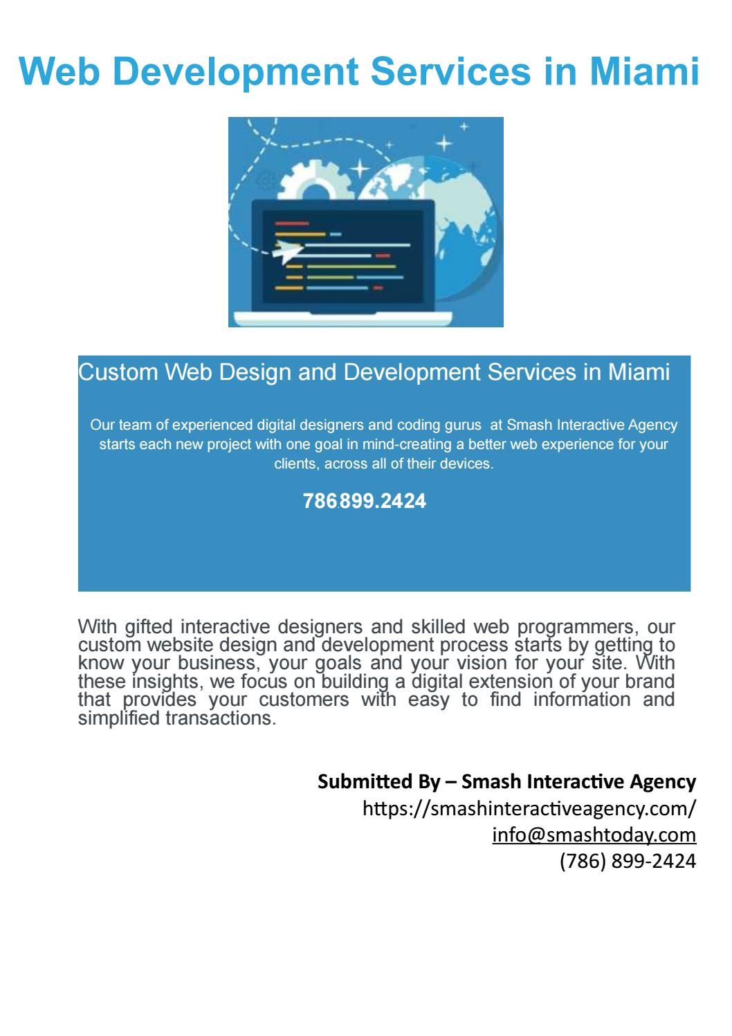 Web Development Services Miami By Smash Interactive Agency Issuu